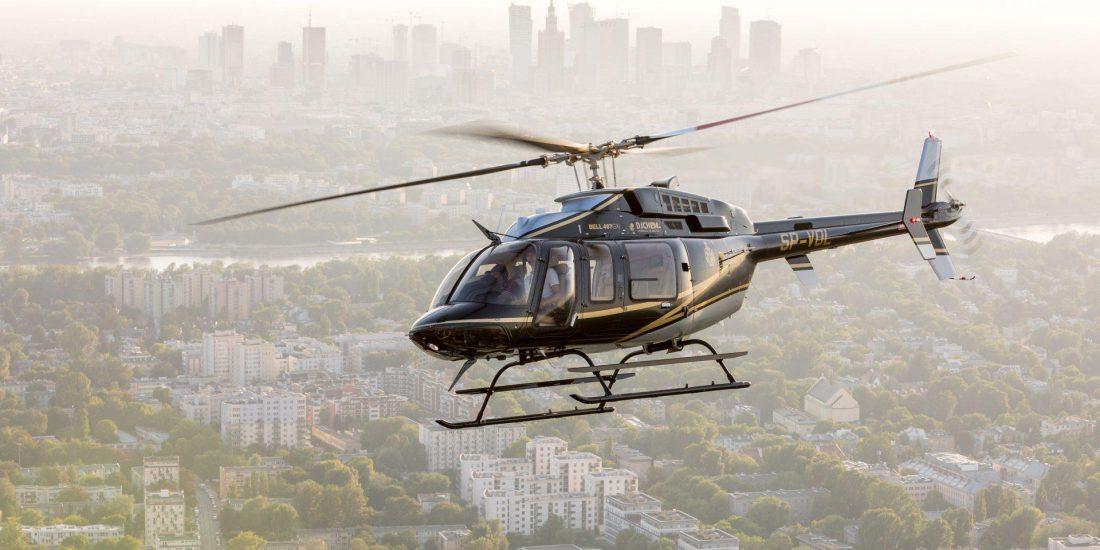 Transfery helikopterem - Polska i Europa